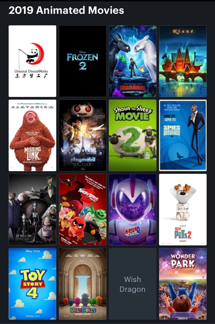 Animated Movies 2019