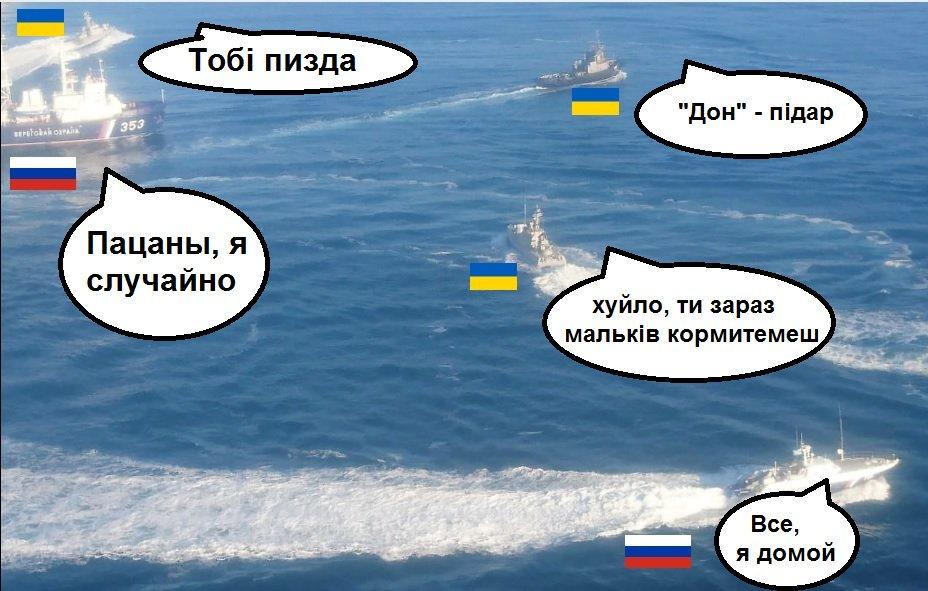 """Оккупанты перекрыли Керченский пролив из-за украинских кораблей, обещают """"соответствующие меры"""" - Цензор.НЕТ 4483"""