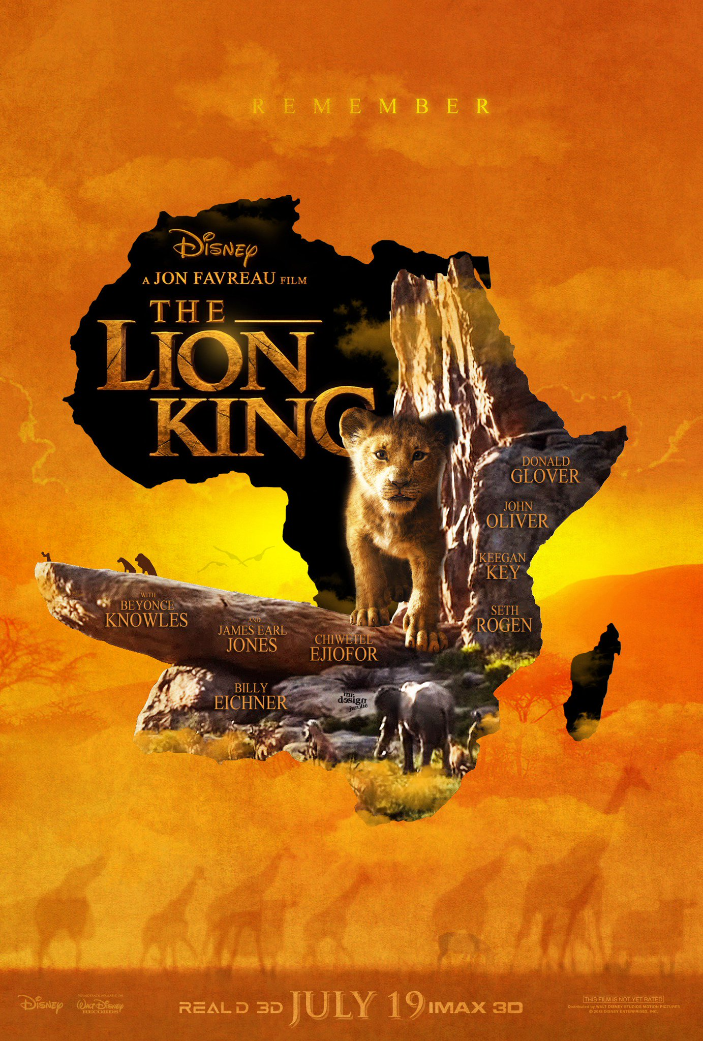 Dettrick Maddox on Twitter LION KING 2019 movie poster