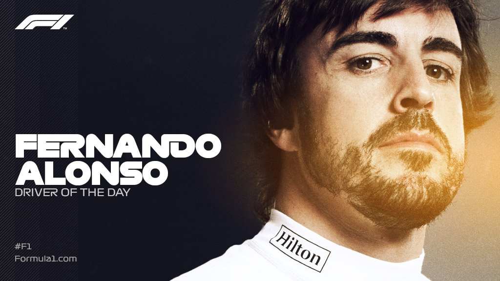 #F1DriverOfTheDay winner  One word: FERNANDO!   #AbuDhabiGP 🇦🇪 #F1 https://t.co/Su7jE5pvMF