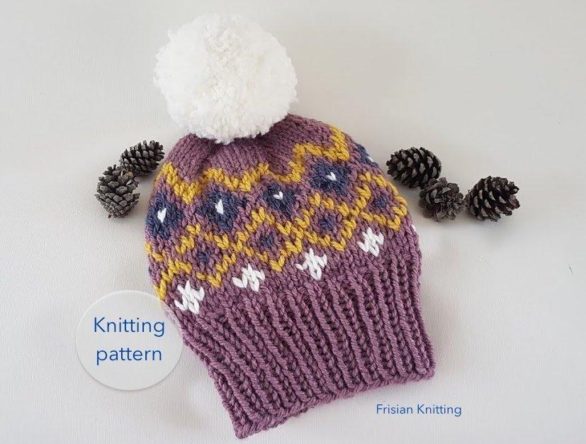 3f950bd8cae ... kunnen delen  Nordic toque    knit beanie    knitting pattern    fair  isle pattern    Mountain Toque    Christmas Toque  knittingpattern   knitpatternhat ...