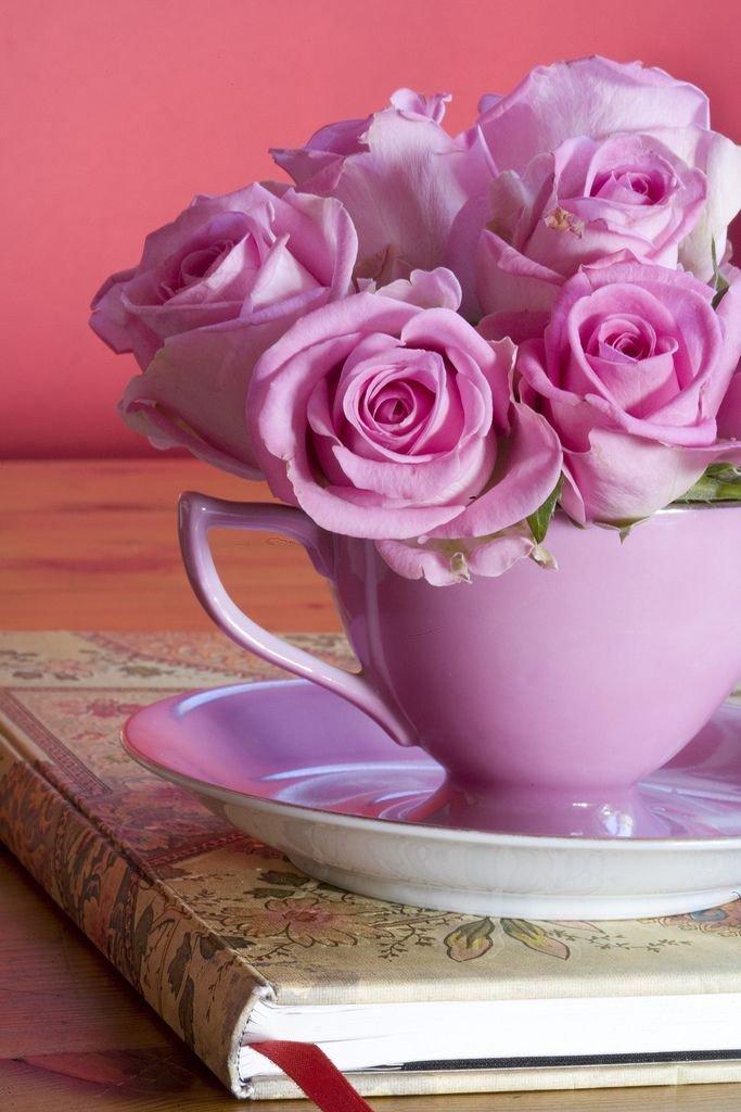 С добрым утром любимая букет роз, букет роз