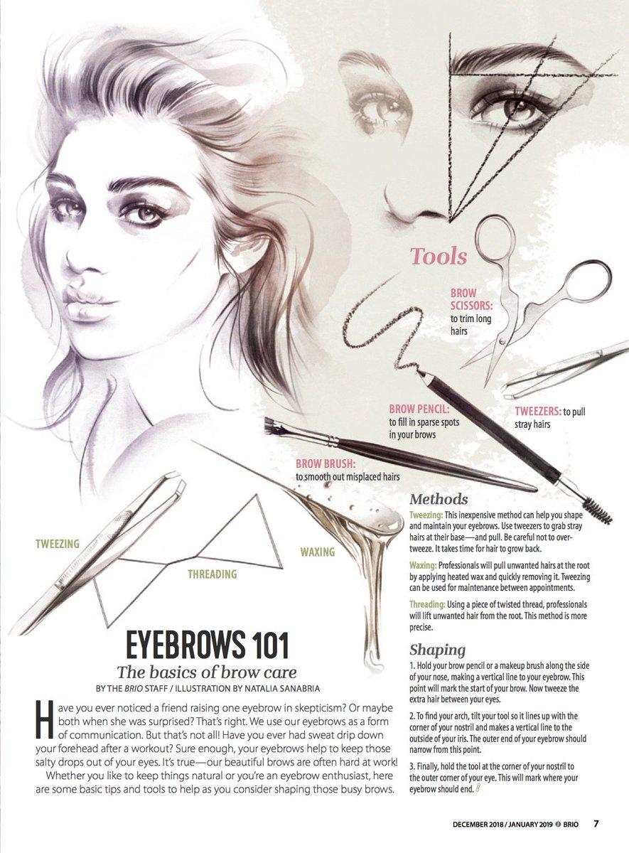 Illustration Ltd On Twitter Eyebrows101 Nataliasanab Teaches