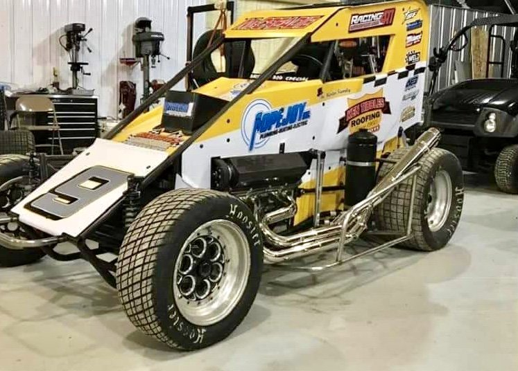 The Neuman Racing ride set to be piloted by Tim McCreadie in this year's Chili Bowl will bear his father Bob's famous No. 9. (Photo: Brad Avery - Barefoot ...