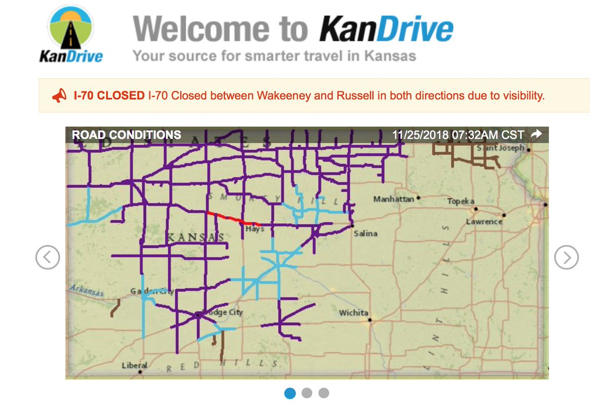 Kdot On Twitter Kdot Update I 70 Is Closed Between Wakeeney And