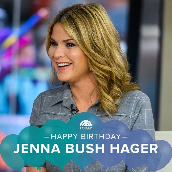 Happy birthday to our Jenna Bush Hager!