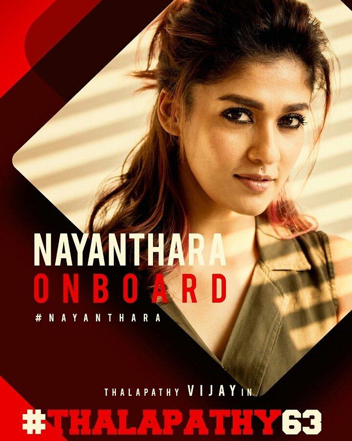 Thalapathy 63 heroine is     NAYANTHARA   😘😘😘😘😘😘😘