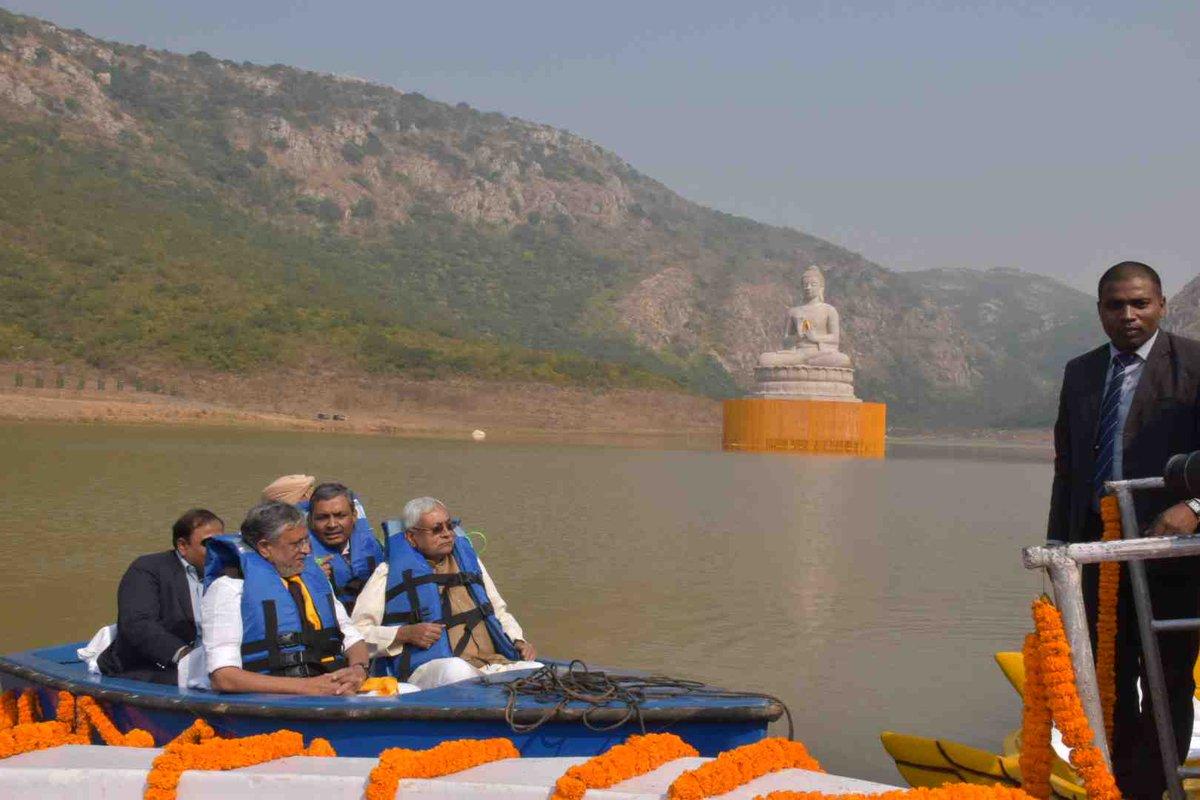 Bihar: CM unveils 70 ft tall Lord Buddha statue in Rajgir