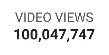 100,000,000 people have watched my content... World domination here I come :)