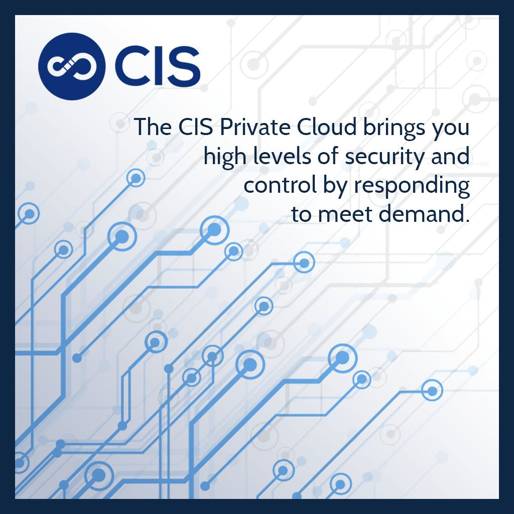 For your business to run smoothly, reliability is crucial. The CIS Private Cloud brings you high levels of security by responding to meet demand as you need it to. Contact us for a #cloud service that is as cost efficient as it is reliable. #ITsupport
