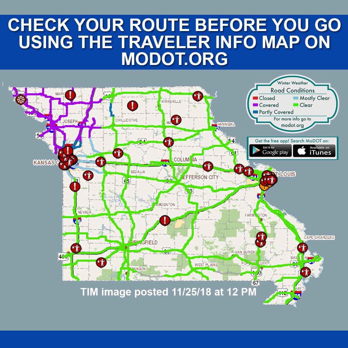 Northwest Missouri Map.Mshp General Hq On Twitter Update Interstate 29 Will Now Be