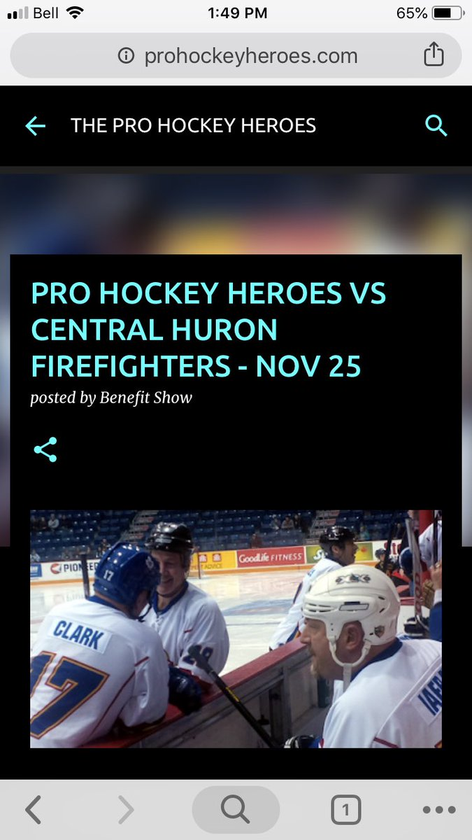 8aaa6d0d6 Come out and see a fun hockey game between Central Huron Firefighters Vs Pro  Hockey Heroes. Should be a great time!  CentralhuronFDpic.twitter.com  ...
