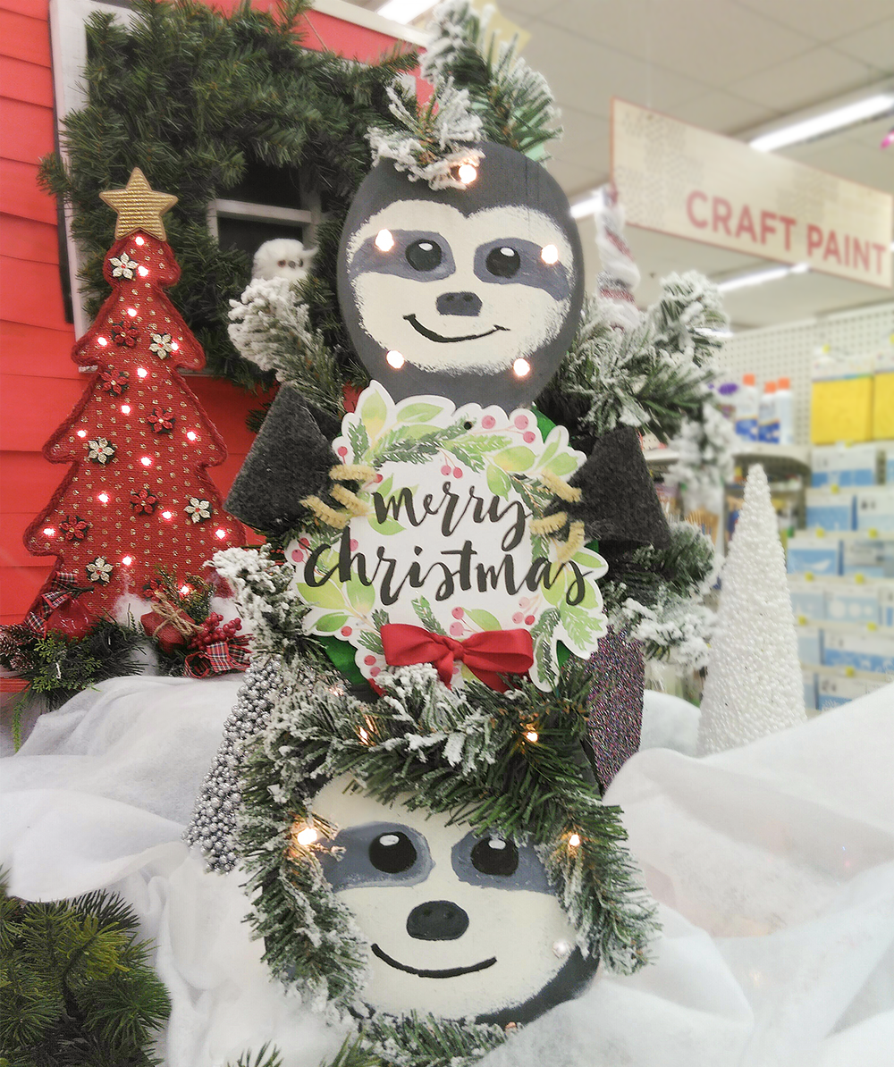 A C Moore On Twitter Do You Wanna Build A Slow Man Hang With Designer Mariel D In Our Bensalempa Store Who Turned A Wood Snowman Surface Into A Tower Of Holiday Sloths