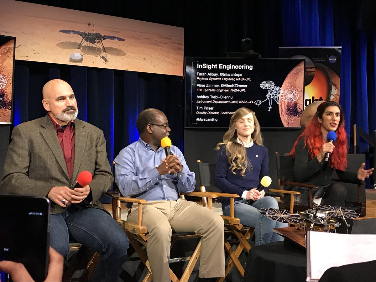 The @NASAInSight engineering team is here to answer your questions! Tweet Qs with #askNASA