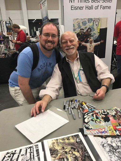 Happy birthday Chris Claremont! Thank you for so much! It was a real pleasure to meet you.