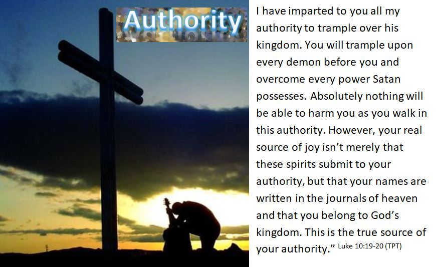 Dear Lord, thank you for the overwhelming authority that You have given me. The trust that has been put on me is awe-inspiring to know that you have given me the power to......  https://wp.me/p5qzxM-ne    #JesusSaves  #love  #authority