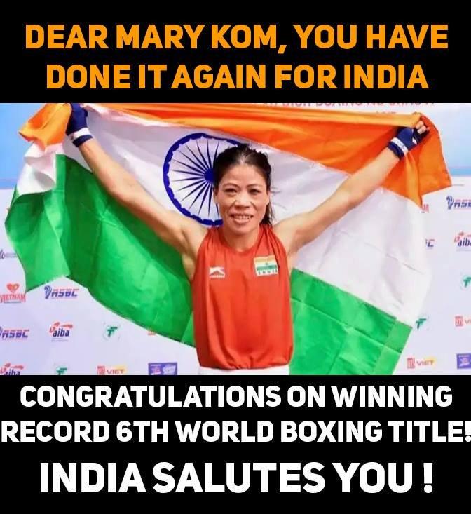 Appreciating Mary Kom  #MaryKom #BoxingIsLife #India #YouIndiaYouwin #WorldBoxingChampionship #Motherofboxing #WomenWorldBoxingChampionships2018 #WorldChampionshippic.twitter.com/nBk2d8Ys4x