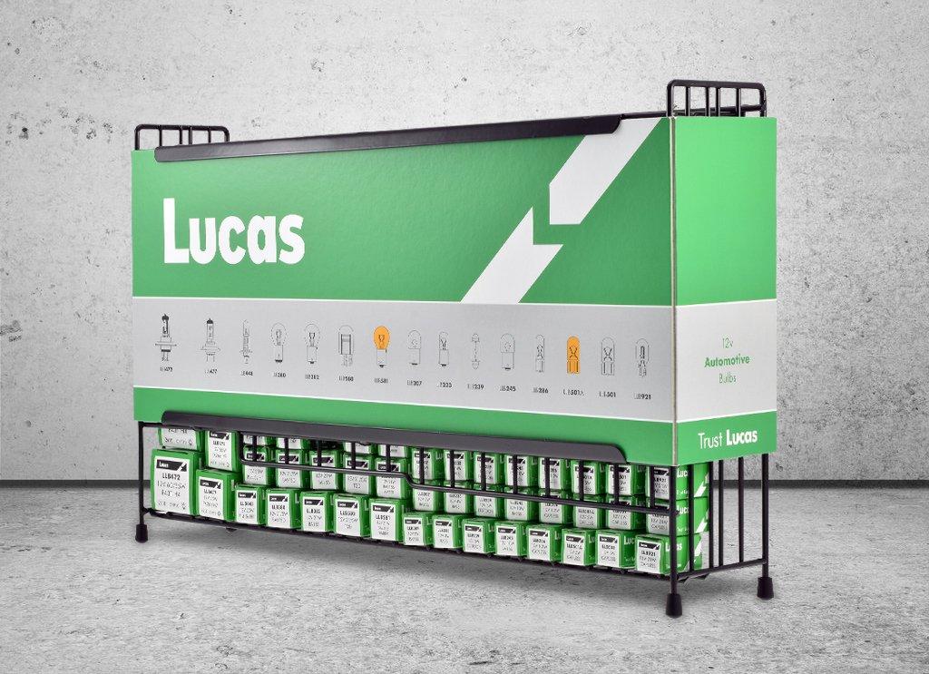 Lucas Automotive Car Bulb Stand 140 bulbs Motor Factor Workshop Garage MOT
