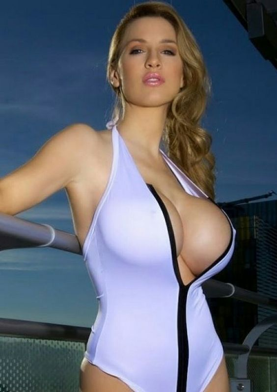 Busty latex swimsuits
