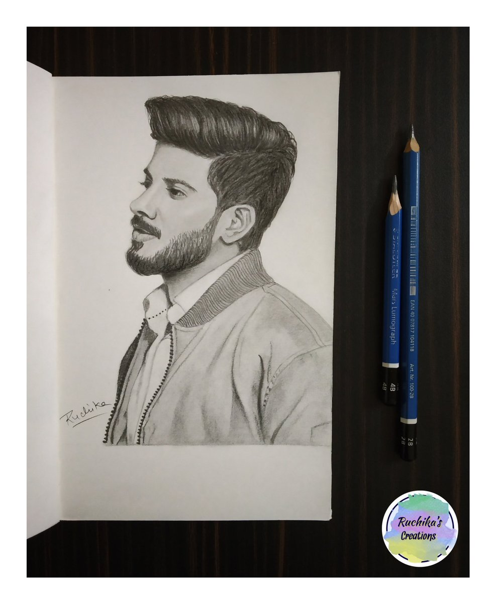 Ruchika kumawat di twitter pencil portrait of dulquer hope you