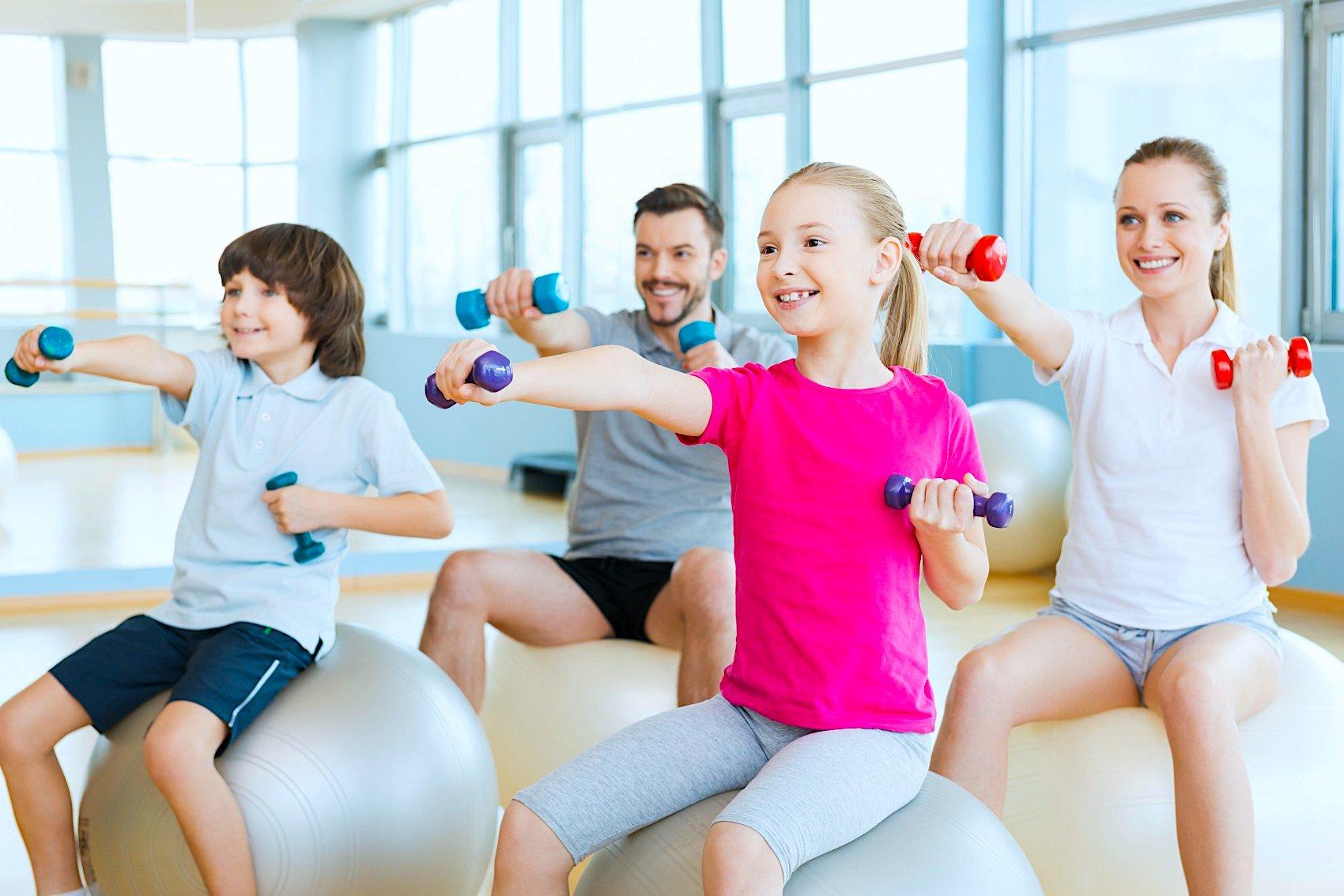 этот картинки с детьми занимающихся физкультурой такой