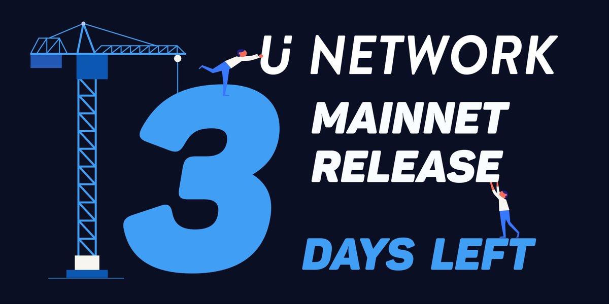 U 2018 Uuu >> U Network On Twitter Unetwork Uuu Mainnet Release Only 3 Days