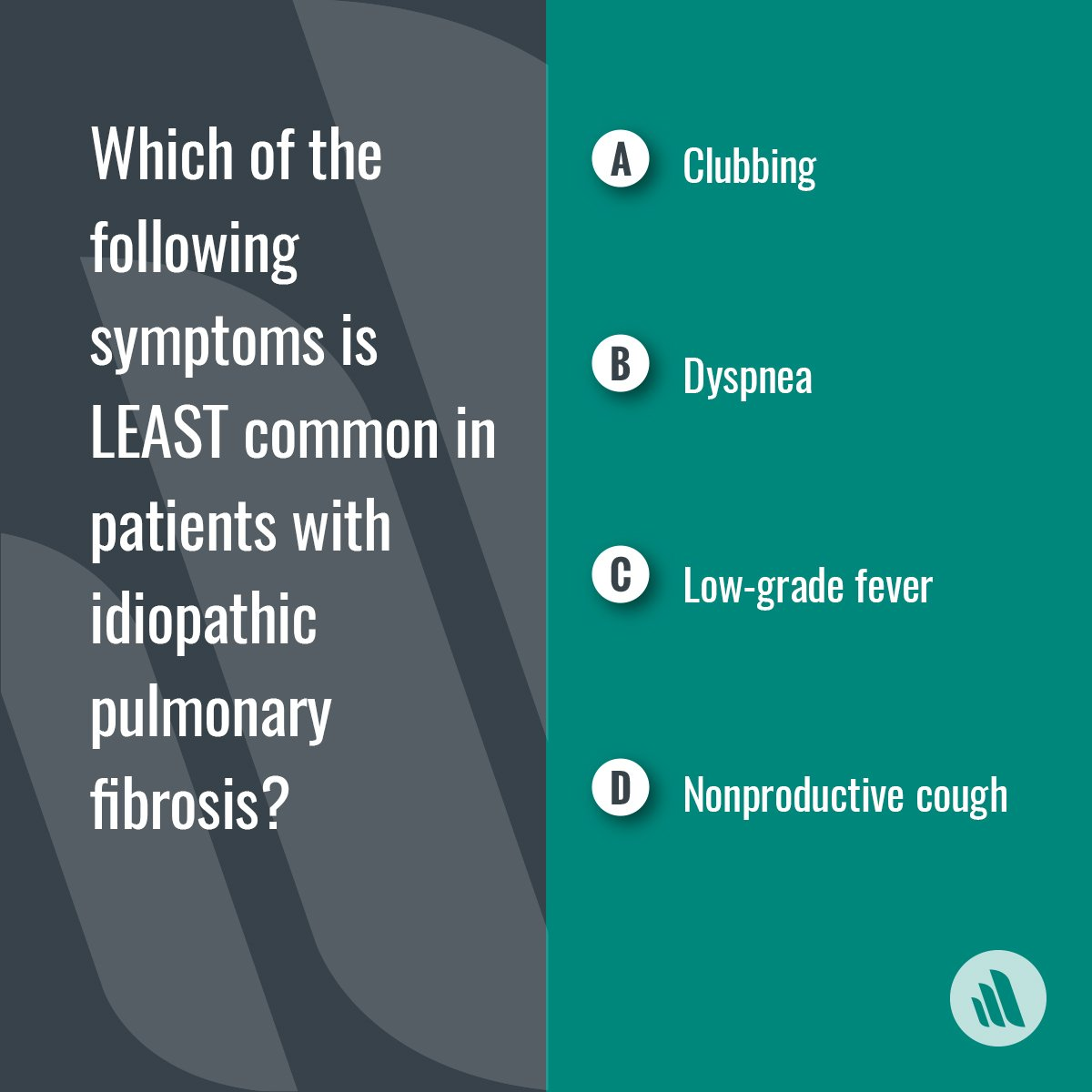 "Merck Manual Pro on Twitter: ""The answer is C, low-grade fever.  Constitutional symptoms, such as low-grade fever and myalgias, are uncommon  in patients with ..."
