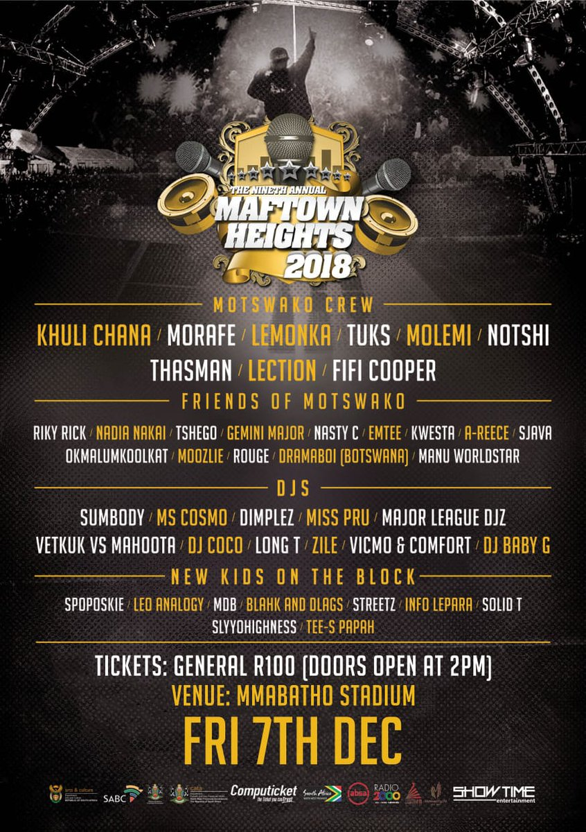 Just got off the phone with the motswako Republic,we working on  something special for this year's MAFTOWN HEIGHTS https://t.co/4gM2078mcb