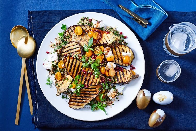 Meat-Free Monday: Grilled eggplant with herb and feta wild rice tabbouleh - https://t.co/pL5lXIIvGP https://t.co/pzOkDtbJgq