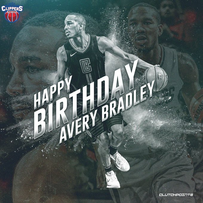 Join Clippers Nation in wishing Avery Bradley a happy 28th birthday