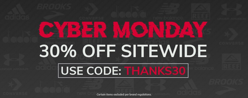 City Sports On Twitter Cyber Monday On The All New Https T Co 7owkzdz0yv Is Take 30 Off Your Purchase Using The Code Thanks30 Happy Shopping Everyone Deal Running Fitness Cybermondaydeals Citysports Adidas Brooks