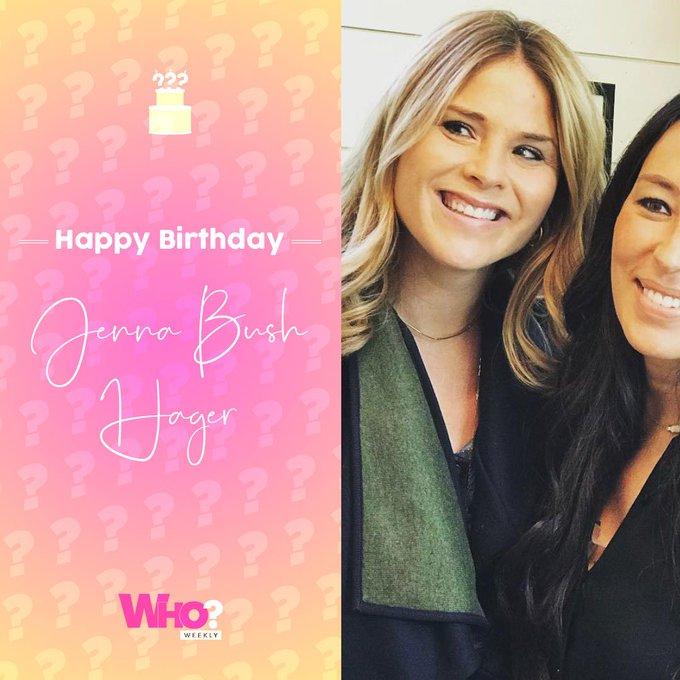 Happy birthday, Jenna Bush Hager!