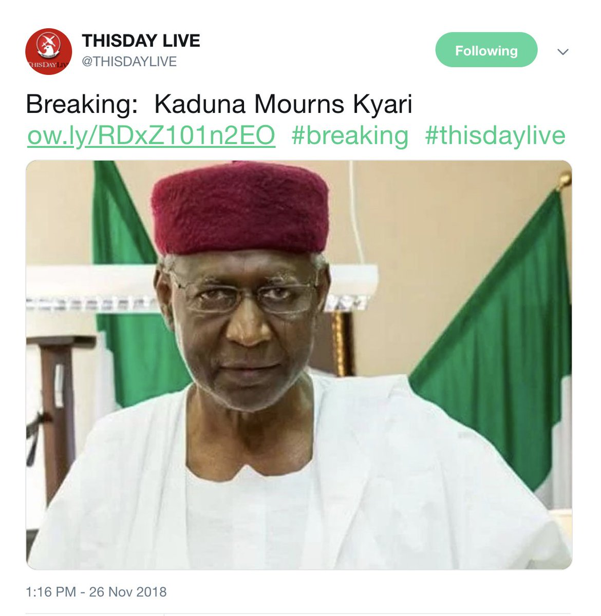 ThisDay Newspaper comes under fire for 'killing' Abba Kyari