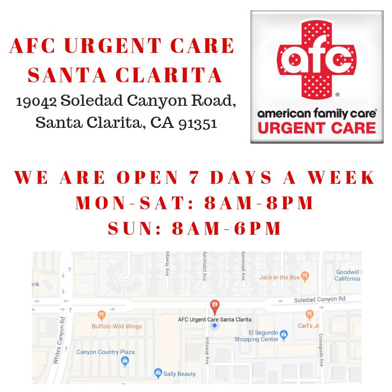 Afc Urgent Care Santa Clarita On Twitter Choose Afc Urgent Care