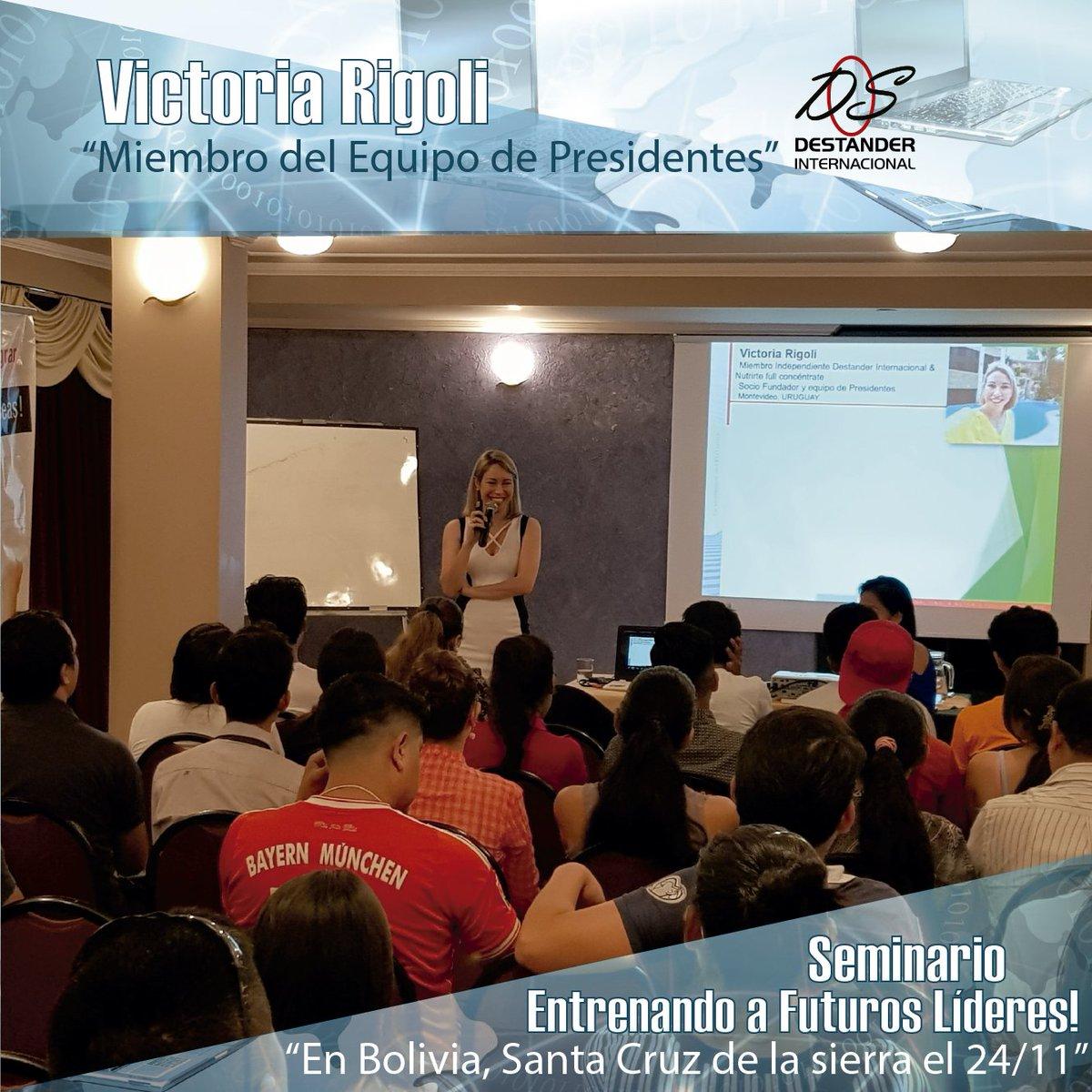 """Victoria Rigoli en el Seminario en Bolivia, Santa Cruz de la Sierra 24/11/18.  """"Miembro del Equipo de Presidentes""""  Entrenando a Futuros Lideres! https://t.co/Q4ovKM6c7j"""