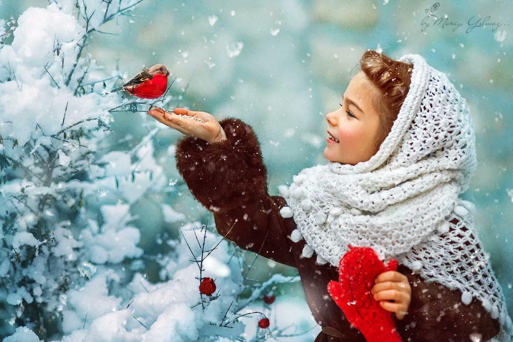 Открытка для настроения женщине зимняя, хочу кушать