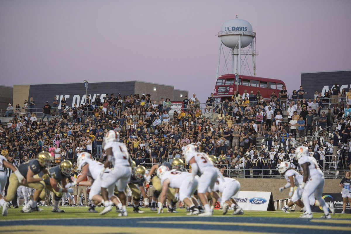 @UCDfootball will be making their FCS playoff debut this Saturday at 4PM and we want to #PackTheOven! Students are free and regular tickets start at just $10! #GoAgs  :  http:// ow.ly/SFqH30mKZXq    <br>http://pic.twitter.com/WKCKibg2Qe