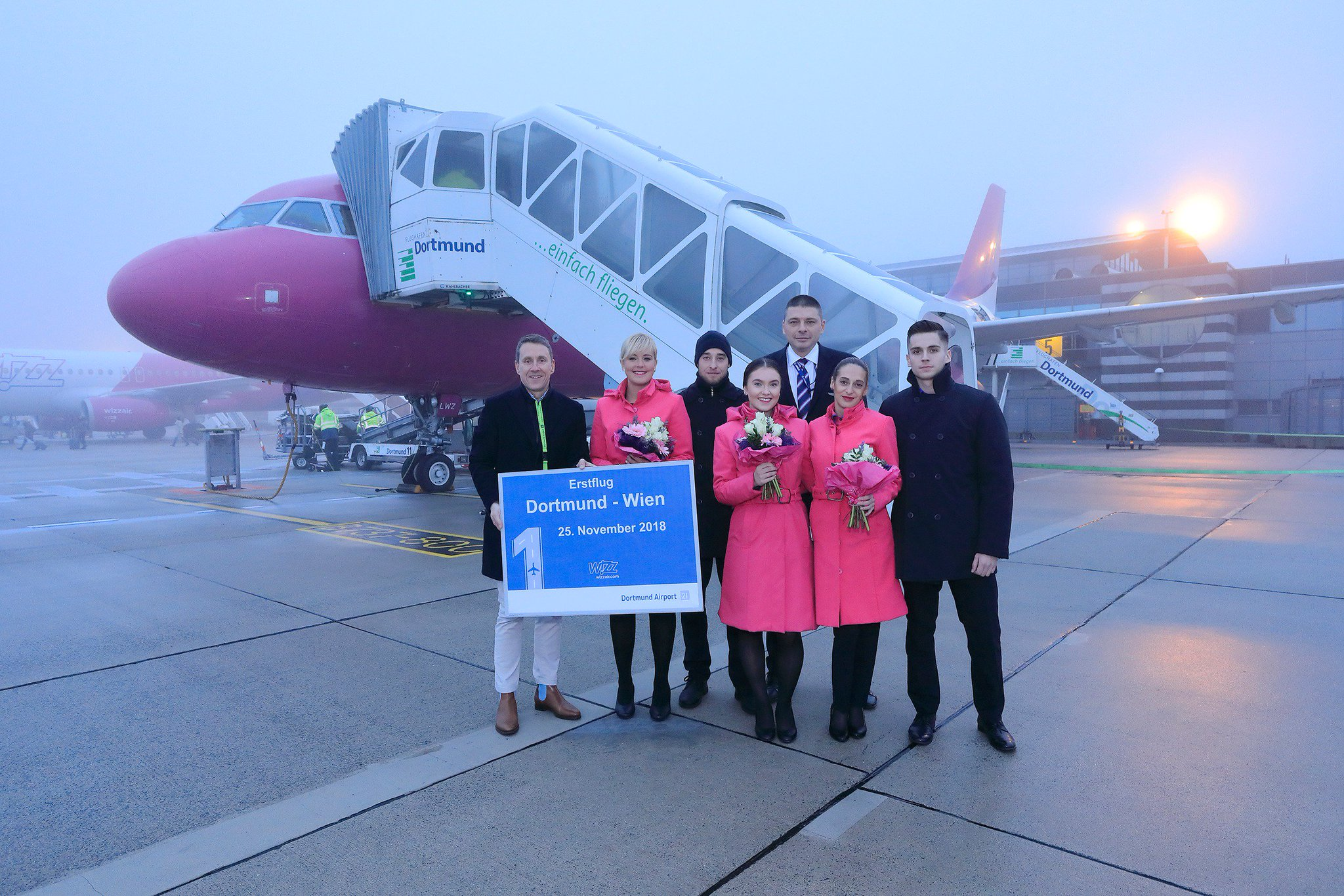 Wizz Air On Twitter Wizznews Today We Were Celebrating The First Wizz Flight Between Vienna And Dortmund Will You Be Flying With Us On This New Route See You On Board
