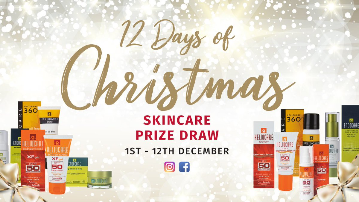 WIN A LUXURY SKINCARE PRODUCT EVERY DAY IN OUR 12 DAYS OF CHRISTMAS PRIZE DRAW! Every day from 1st December until 12th December Exeter Medical will be giving away a luxury skincare product. https://t.co/RIvCybwCNI https://t.co/pf8uqgAmBk