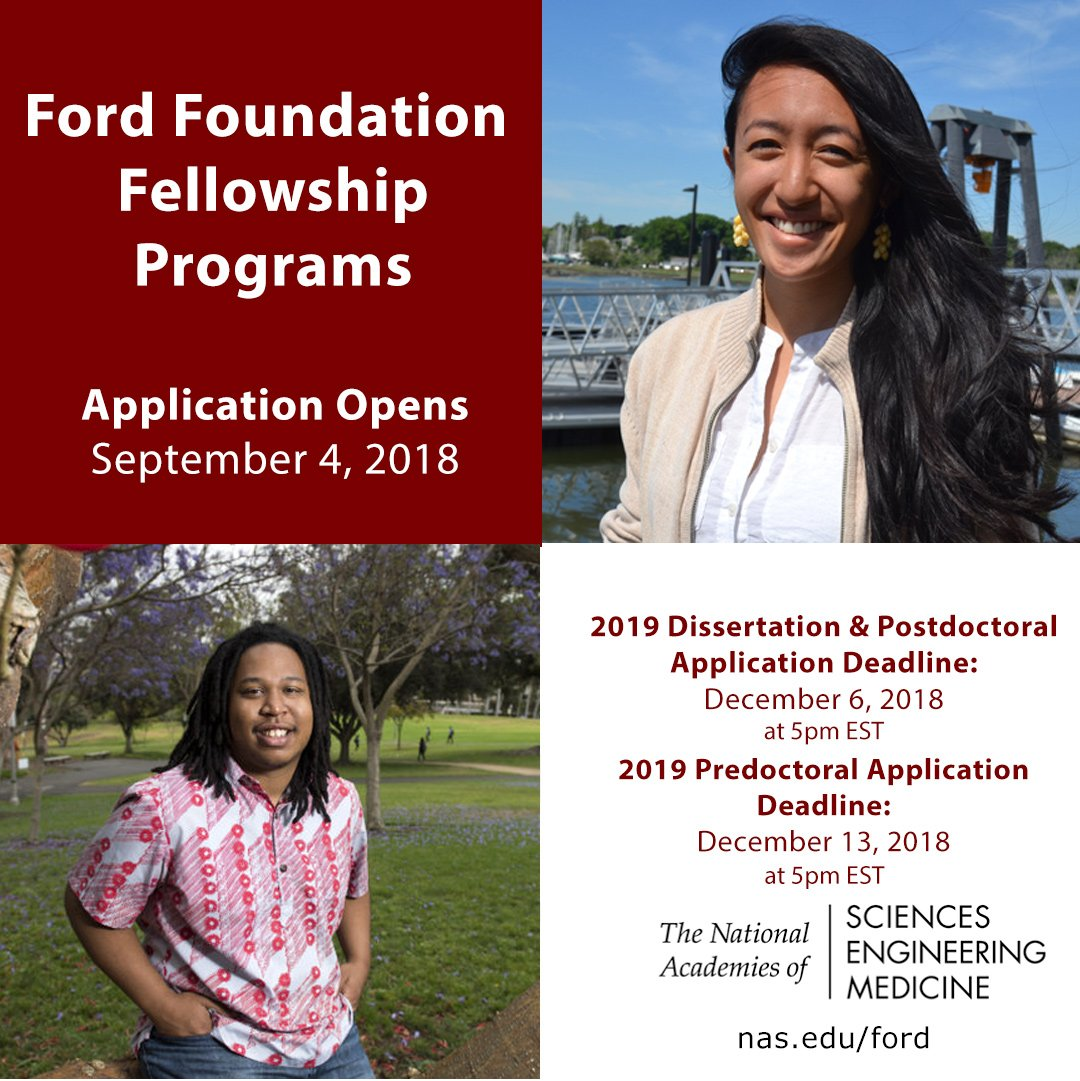 Invest in yourself, become a Ford Foundation Fellow! Applications are closing soon, dont miss this opportunity! #NASEM #Education #PhDlife #ECRchat #Diversity #PhDs #Leadership ow.ly/F9Ce50jJJrt