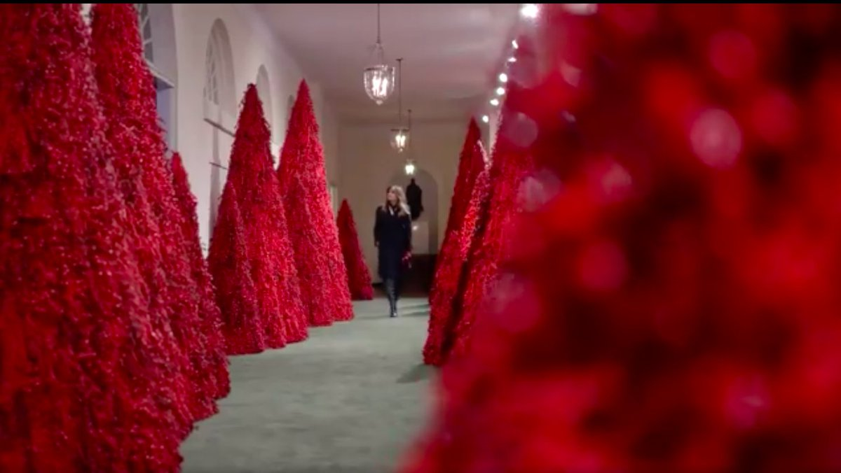 Melania's Christmas decorations look like they're straight out of the Shining
