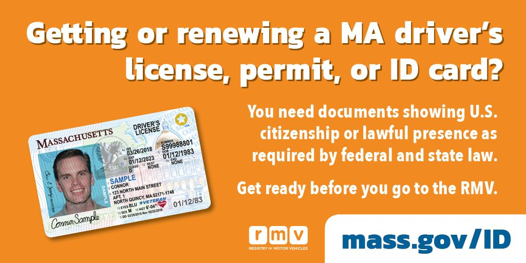 Or Are Driver's Federal Showing By Will Presence License Getting Need And Massachusetts Law You Rmv State On Be Prepared Lawful s id Documents