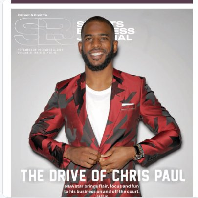 Chris Paul may be one of the most charismatic people I have ever met. He works as hard as @TheNBPA President as he does on the court. Got to interview @CP3 for this week's @SBJ: https://bit.ly/2DXx0FC