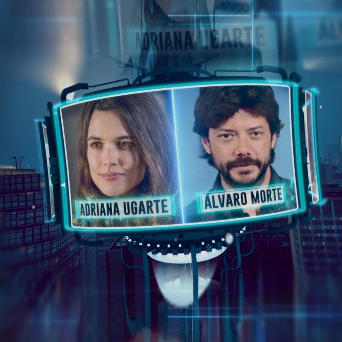 """Comenzamos la semana con dos grandes actores @adrianaugarte10 y @AlvaroMorte 😎 Nos presentarán """"Durante la tormenta"""" su nueva película que se estrena este Viernes 🎥 #TormentaEH"""