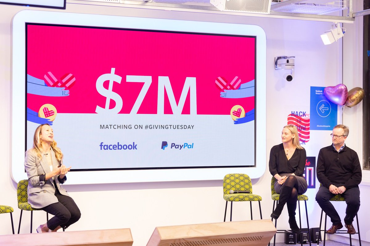 @Facebook and @Paypal are teaming up for @GivingTues and matching up to $7 million in donations to non-profits here in the  U.S. The match starts at 7am central time, and goes until the $7 million  is reached. So give away people! #GivingTuesday