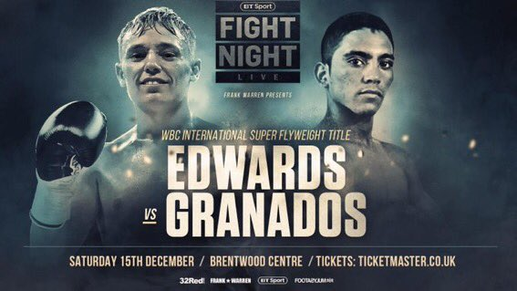 Not content with being the current WBO European Super Flyweight Champion, @SunnyEdwards will challenge for the WBC International Super Flyweight title on 15th Dec. mtkglobal.com/mtk-global/ris… Contact Sunny directly for tickets, & if you can't make the fight, watch him on @btsport