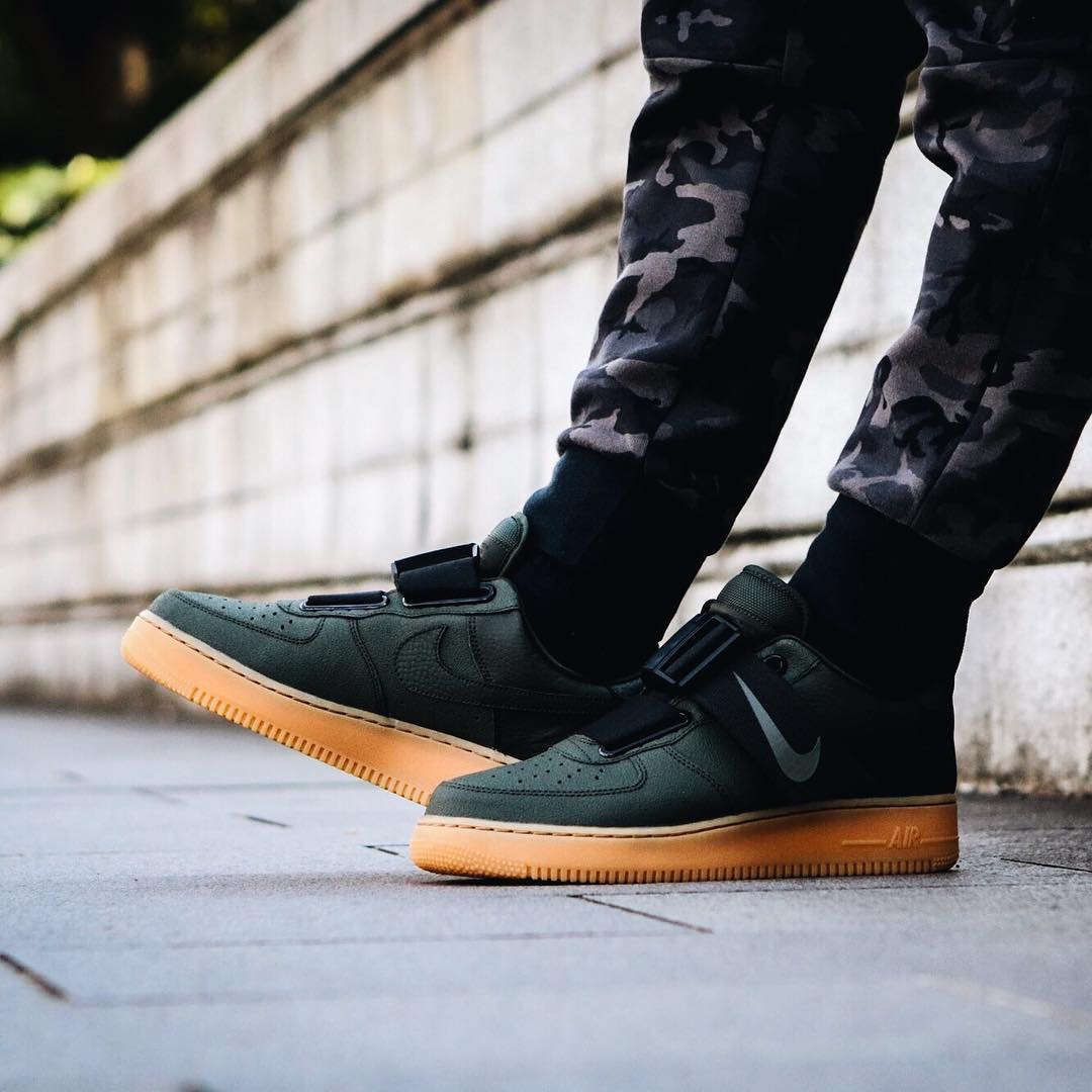 Nike Air Force 1 Utility Olive Gum Release Date Sneaker