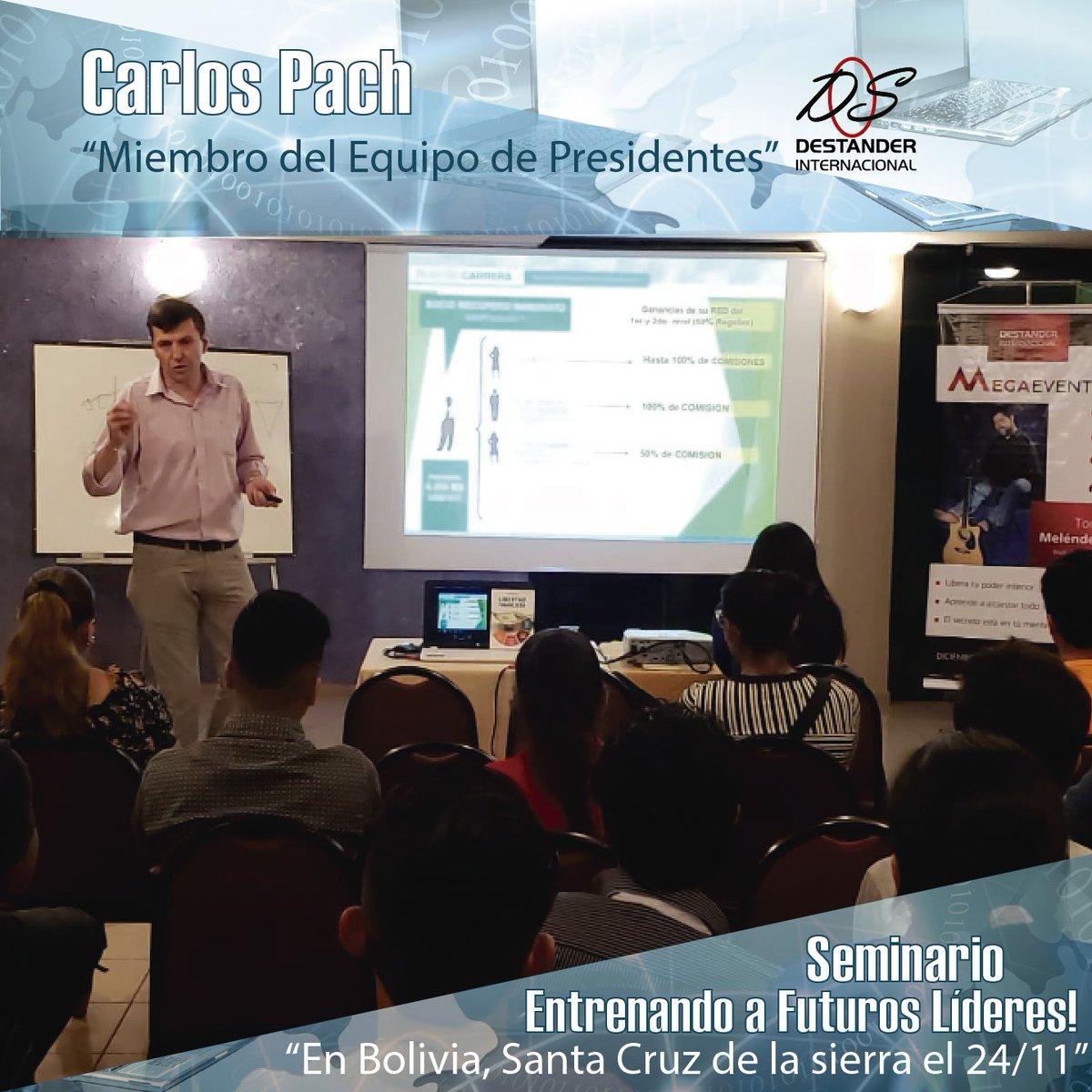 """Carlos Pach  Seminario en Bolivia, Santa Cruz de la Sierra 24/11/18.  """"Miembro del Equipo de Presidentes""""  Entrenando a Futuros Lideres! https://t.co/QE84uudmD9"""