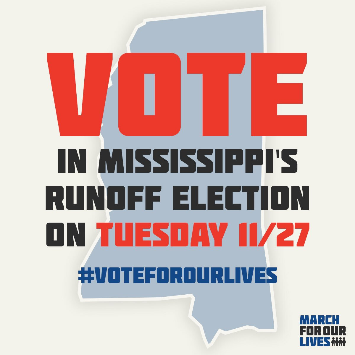 Get out there, Mississippi! #VoteForOurLives 🗳