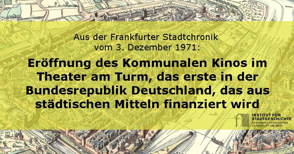 #Frankfurt er #Stadtgeschichte #OnThisDay: #TAT #TheateramTurm #KommunalesKino #Stadtchronik #FFMpic.twitter.com/QhMF6f4oMF